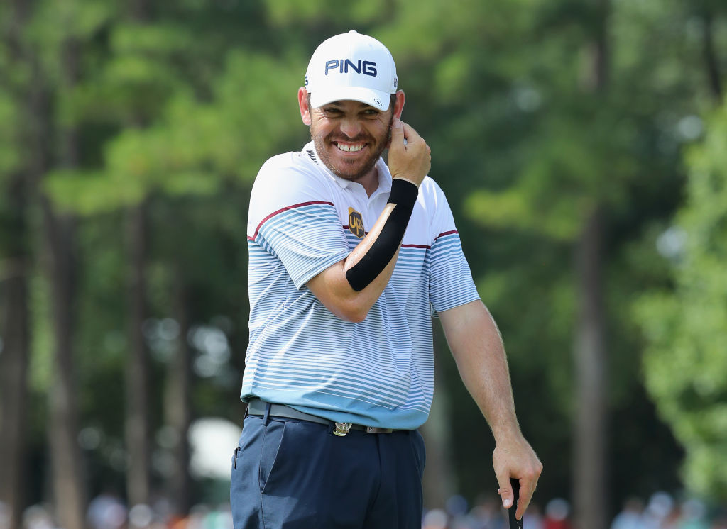 Louis Oosthuizen mimes 'Rise Up' after completing career Grand Slam of seconds!