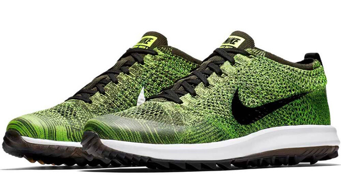 best service 3be92 4c070 The Nike Flyknit Racer G shoes feature a breathable, Flyknit-constructed  upper with Flywire cables for a lightweight, secure comfort on the course.