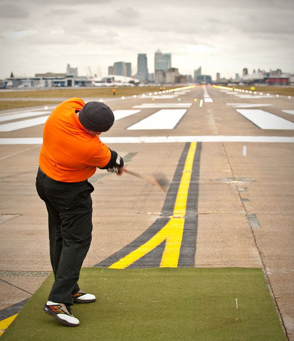 Paul Slater in action at London City airport