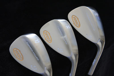 Long-hosel, satin-=finish wedges from Yes! Golf