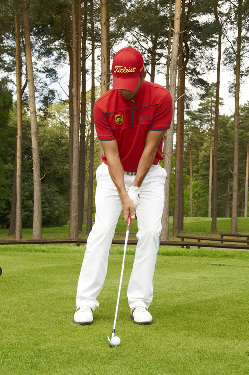 Favour the left side if you want to hit the ball a little lower.