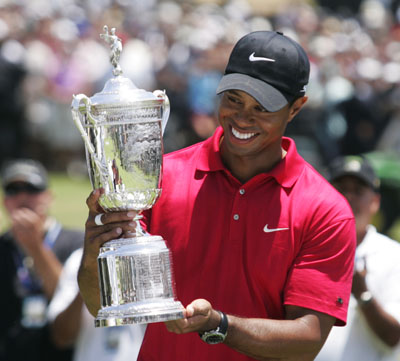 Ex-US Open winner Tiger Woods will be at Congressional in Spirit, if not in person