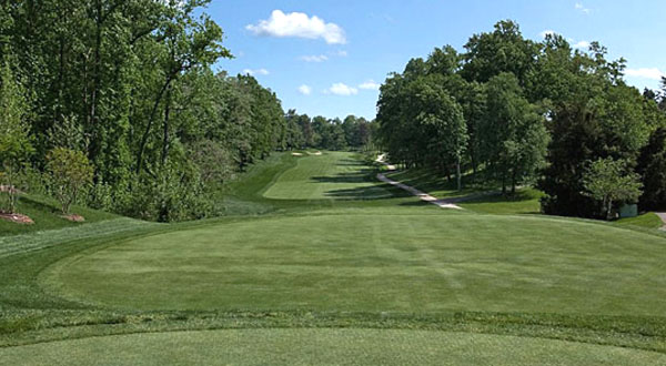 The 11th hole, which Tiger helped re-design