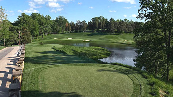 The former 18th is now the par-3 tenth