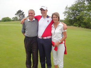 Family pride: Ben with his mum and dad