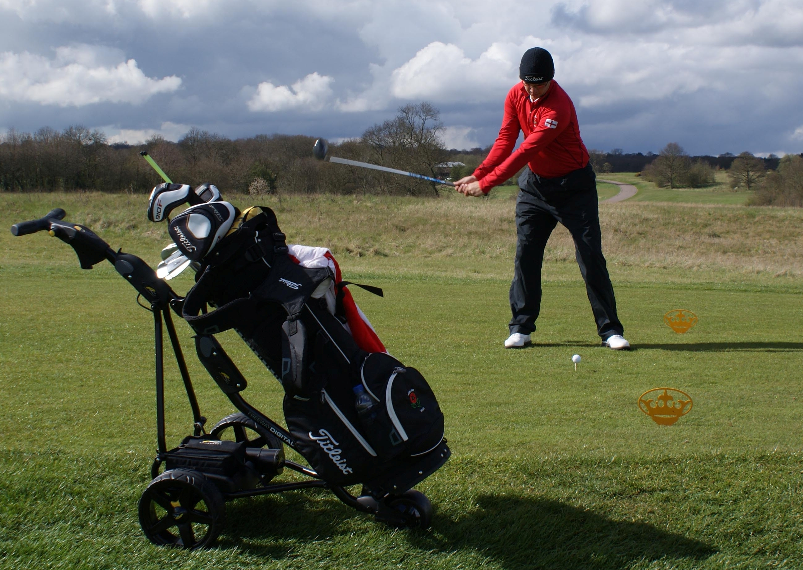 In swing: Ben at The London Golf Club