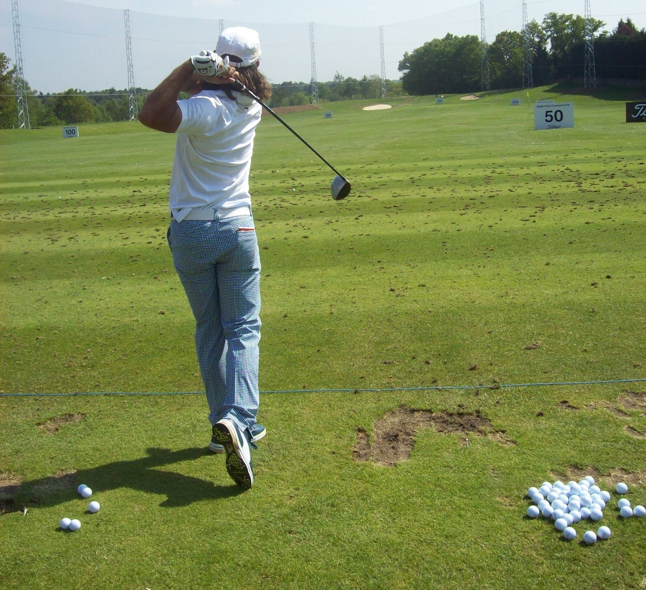 Edfors on the range at Wentworth
