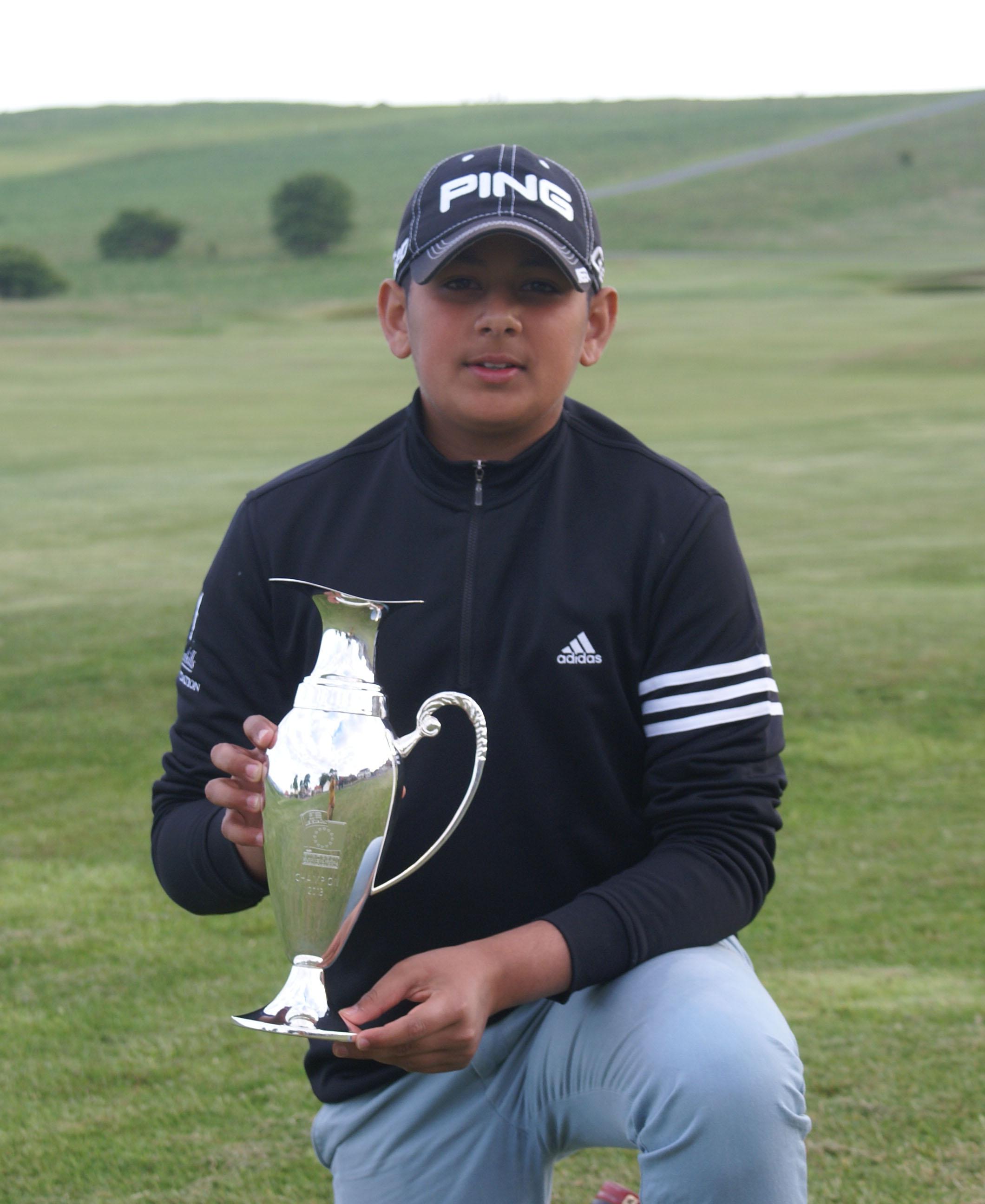 Aadam Syed, two time Junior European Golf Championship winner