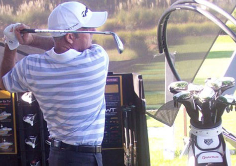 McGinley at Quinta do Lago's new TaylorMade fitting centre