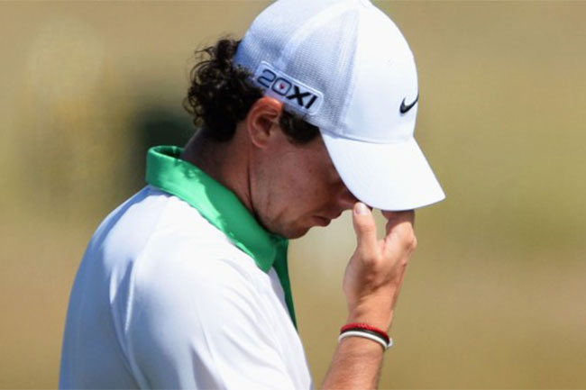 McIlroy struggled in the first round of the Open, carding an eight-over, 79