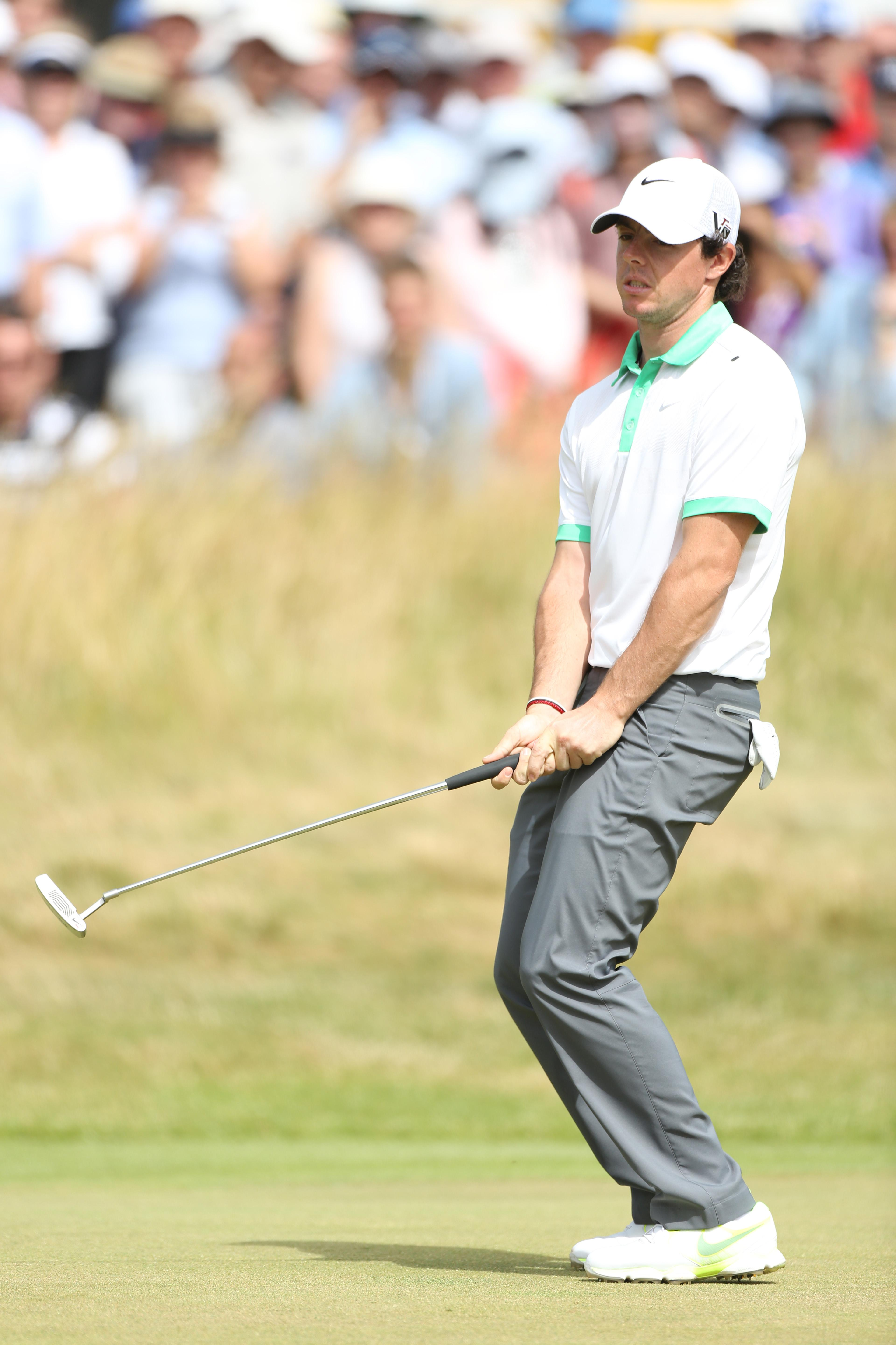 Another putt slips by for the Northern Irishman