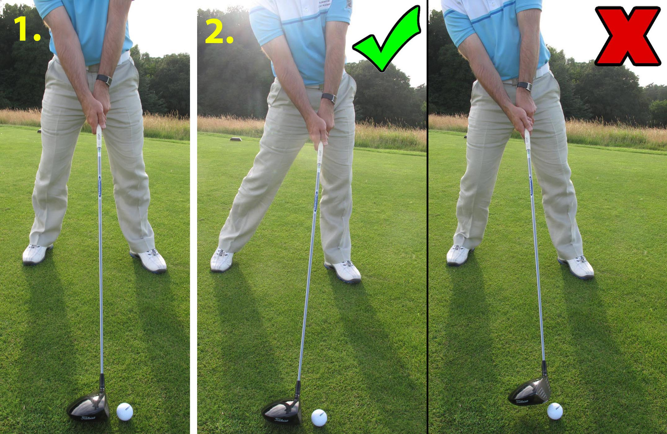 Striking a driver off the deck can be a really tough thing to do but is also a great drill for hitting down on the ball