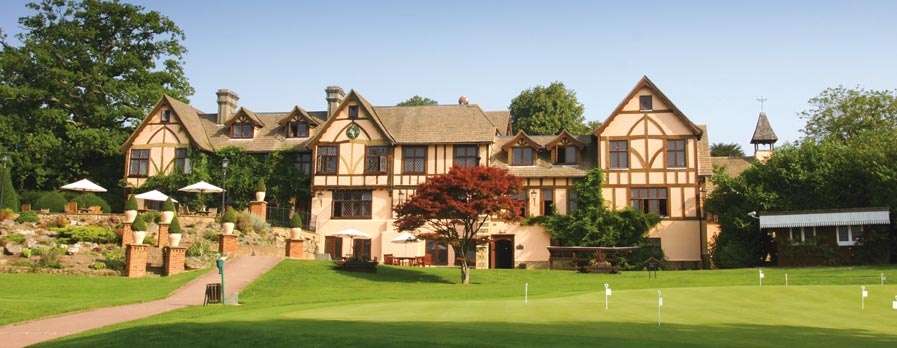 The breathtaking clubhouse looks over the putting green and the first tee