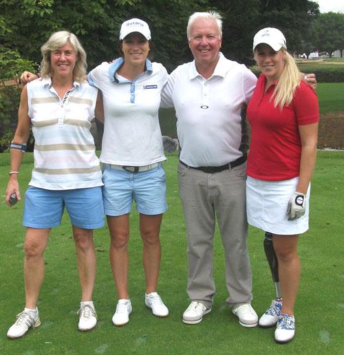 From the left: golf writer Madeleine Winnett, Melissa Reid, Bob Warters and Caroline Larsson