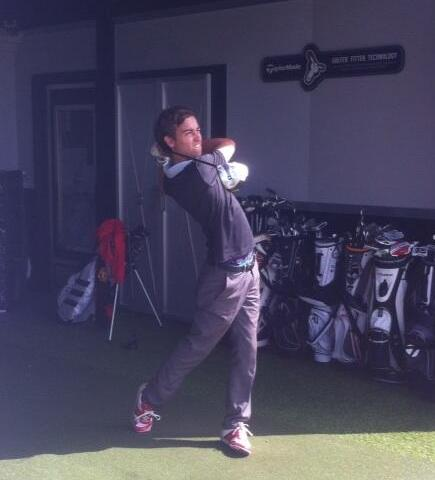 Andy getting fitted for his TaylorMade SLDR