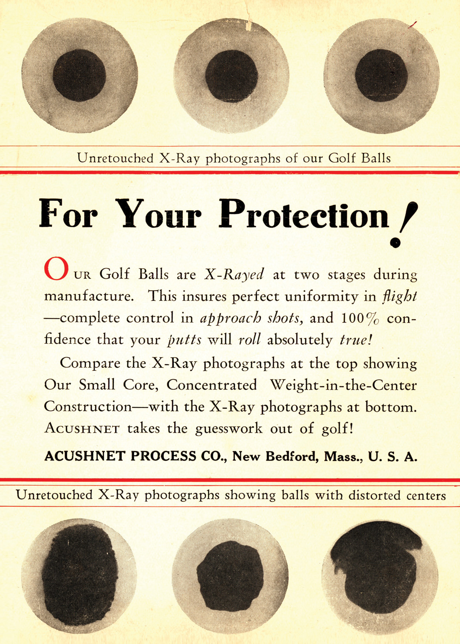 Titleist becomes the first brand to X-Ray every golf ball in 1935 (Photo: Titleist)