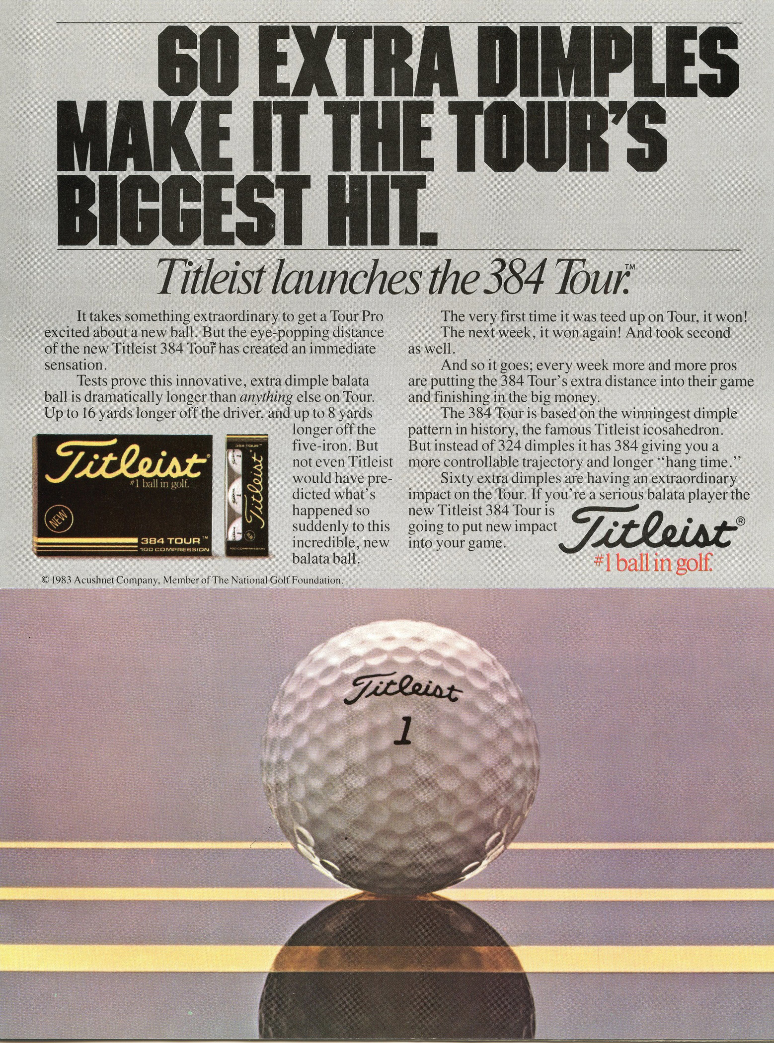 Titleist 384 Tour becomes up to 16 yards longer with the driver (Photo: Titleist)