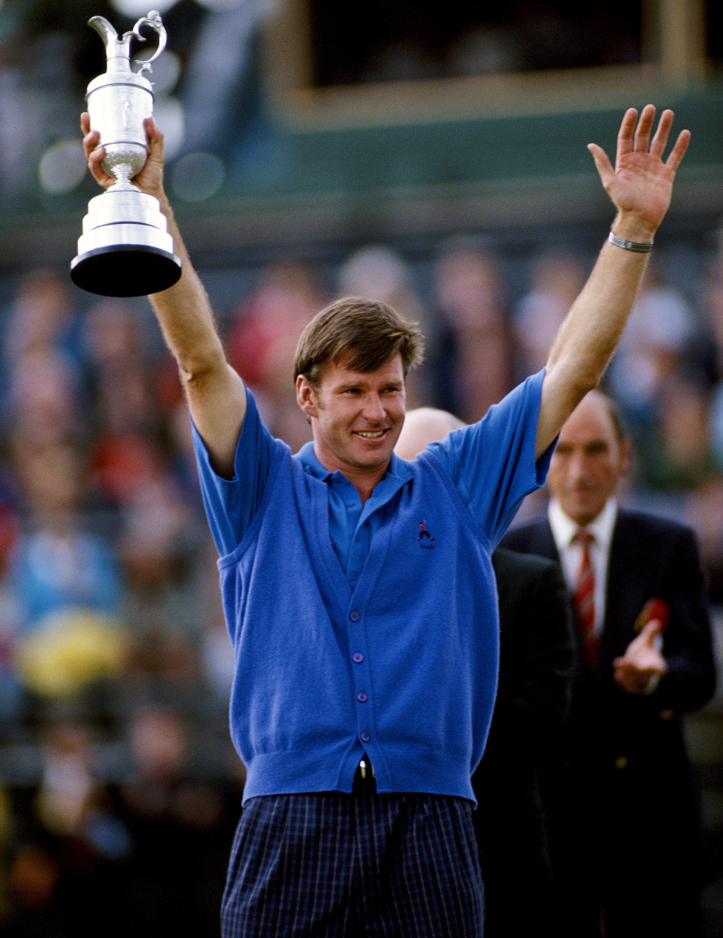 """In his acceptance speech, Faldo infamously said he would """"like to thank the press from the heart of his bottom"""" in reference to several negative articles about him (Photo: Getty Images)"""