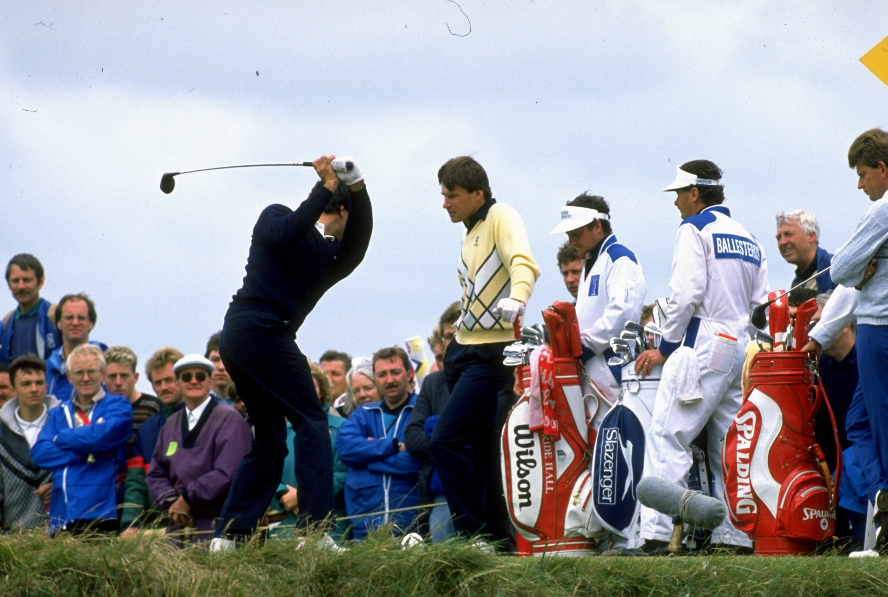 Faldo challenged again the following year, finishing third behind Seve Ballesteros at Royal Lytham & St Annes (Photo: Getty Images)