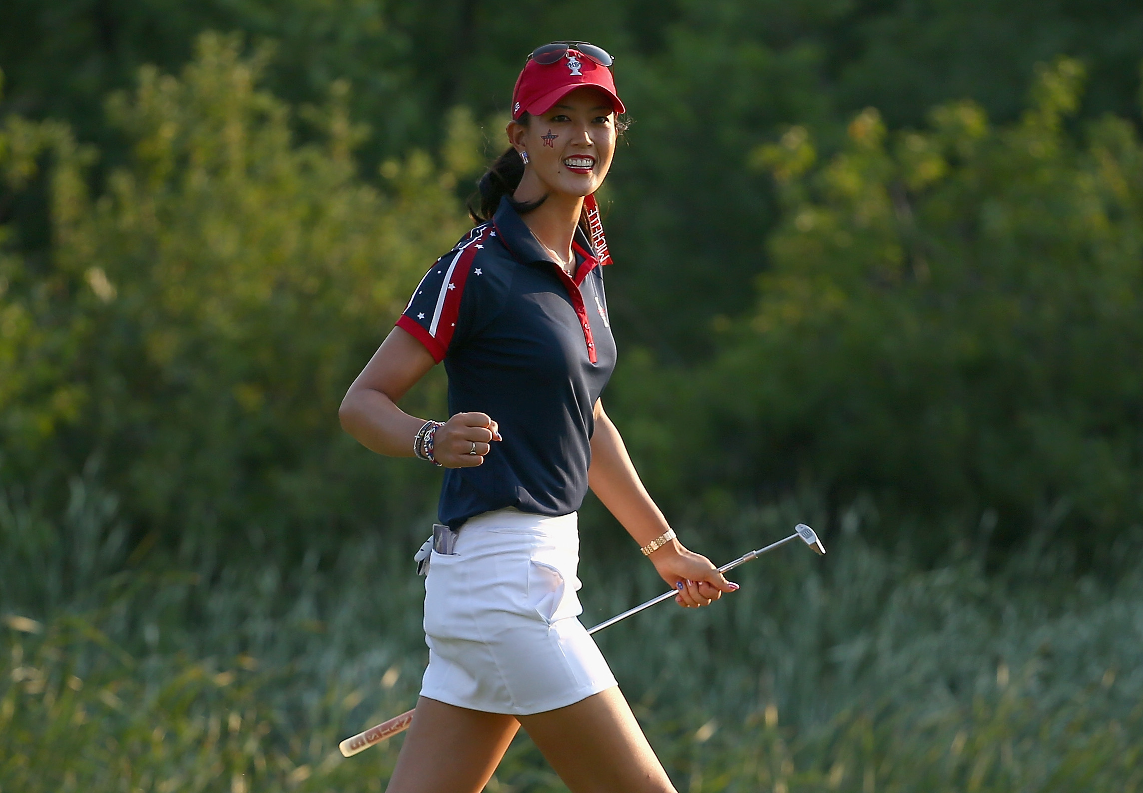 Michelle Wie has patriotic custom shoes made for the Solheim Cup this year (Photo: Getty Images)