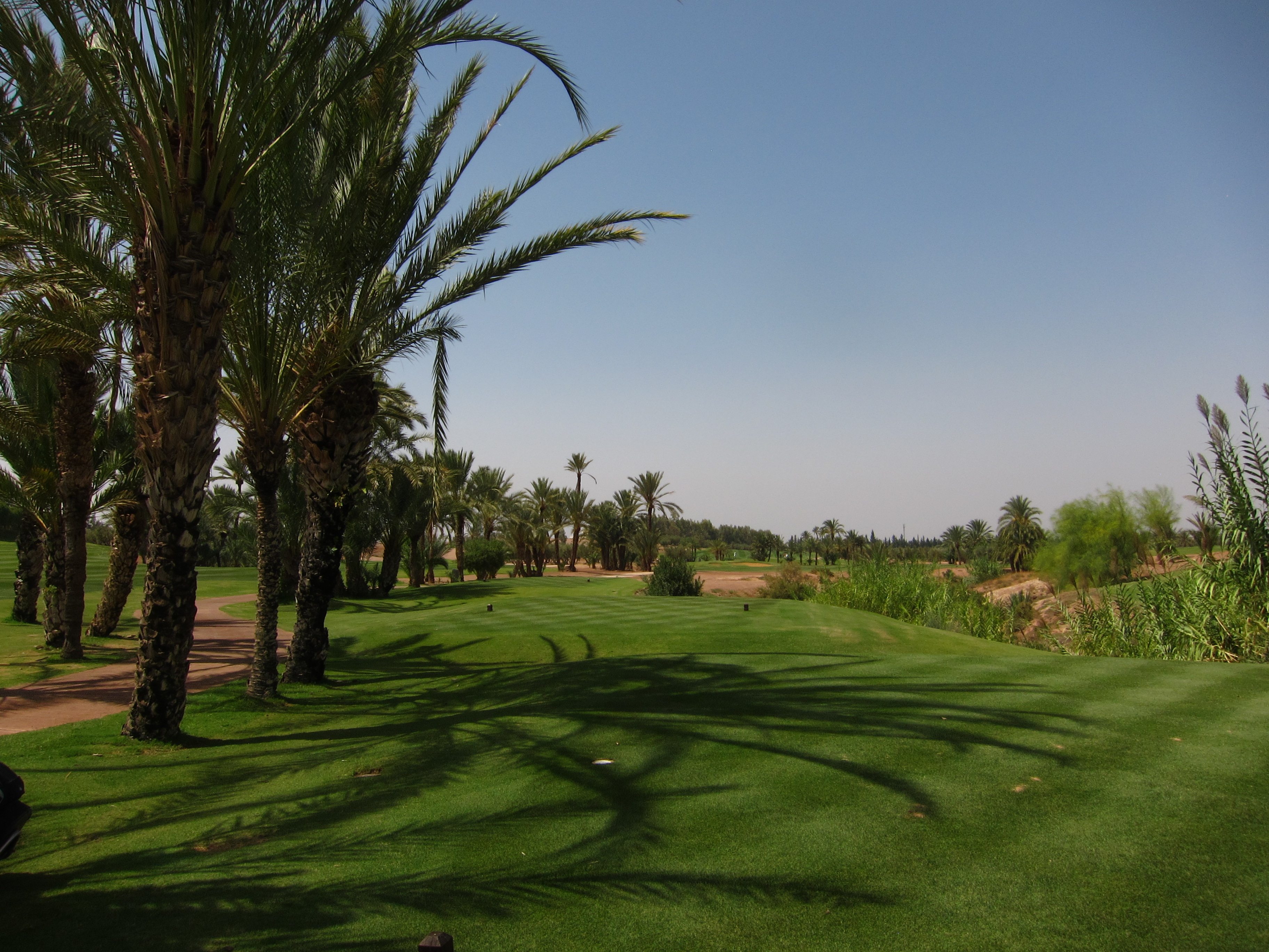 Tee shots on 15 need to carry the corner of the dry river bed