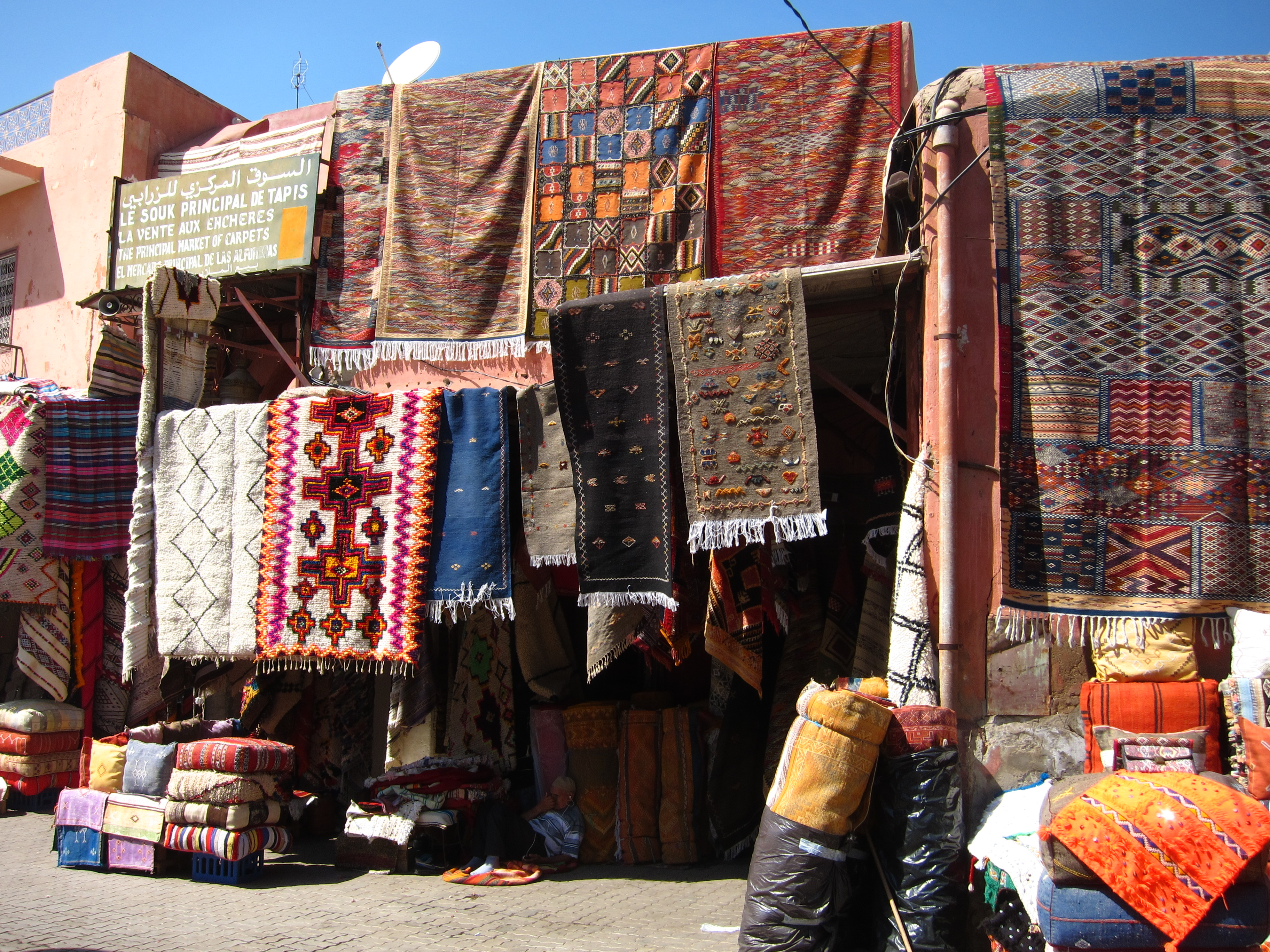 Carpets are a favourite of tourists - you'll drink several mint teas before the deal is done