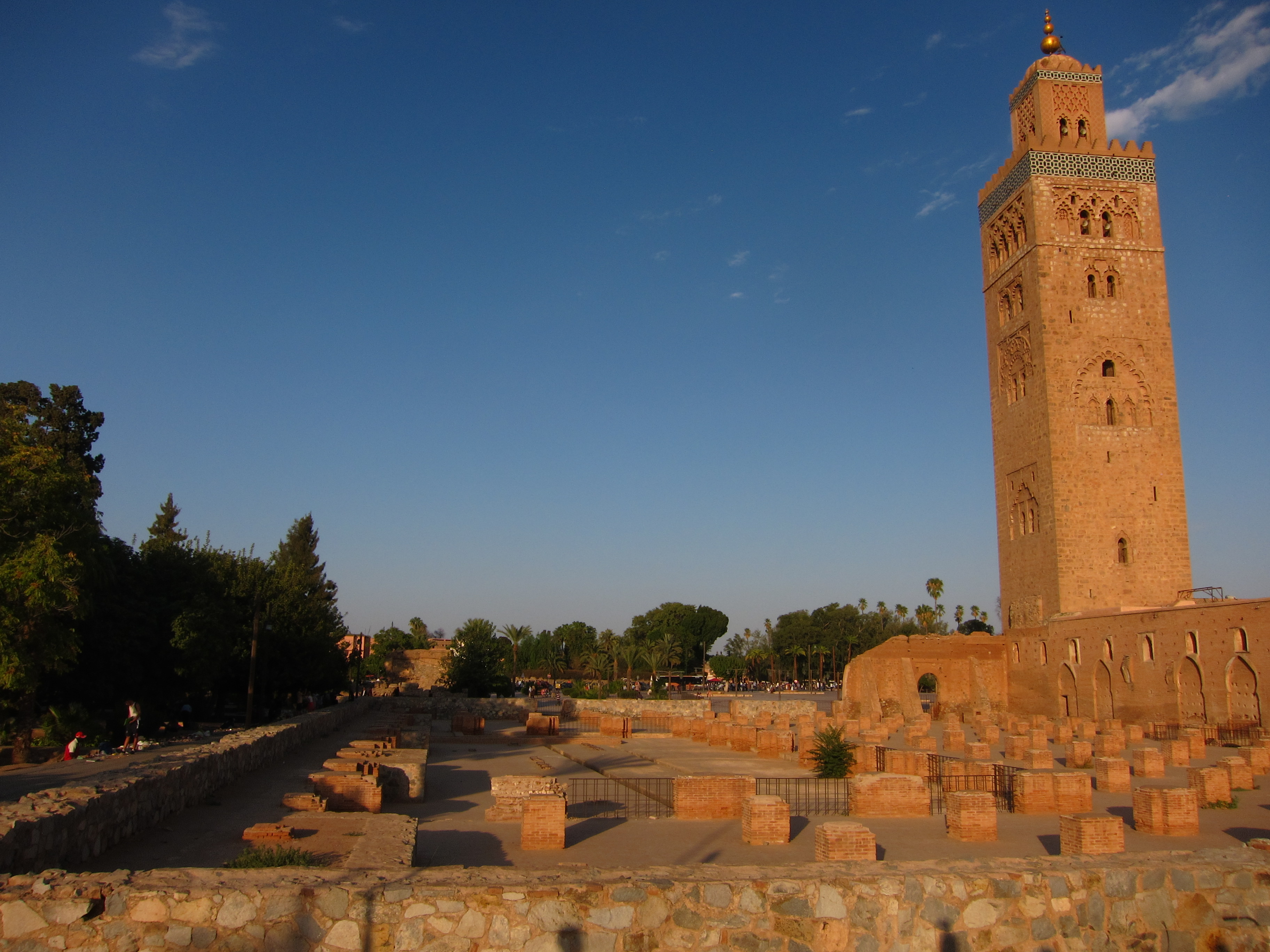 The famous 11th century Koutoubia mosque stands sentinel over Marrakech
