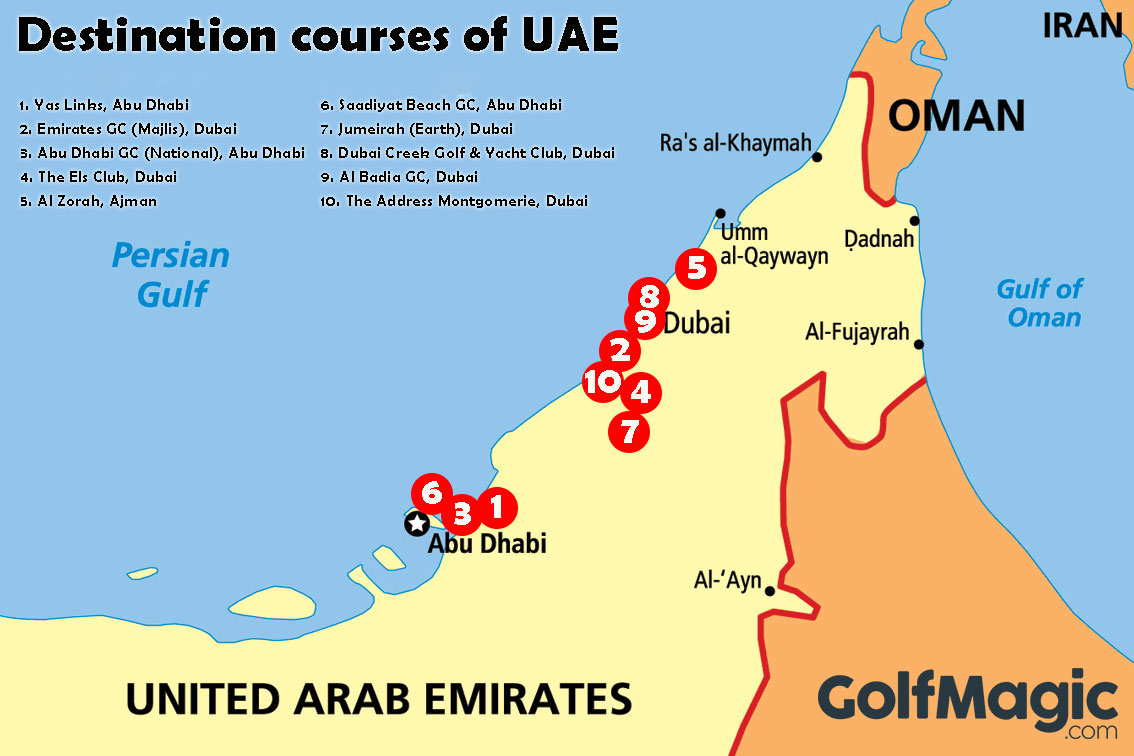 United Arab Emirates is one of the world's premier golf destinations (click image to enlarge)