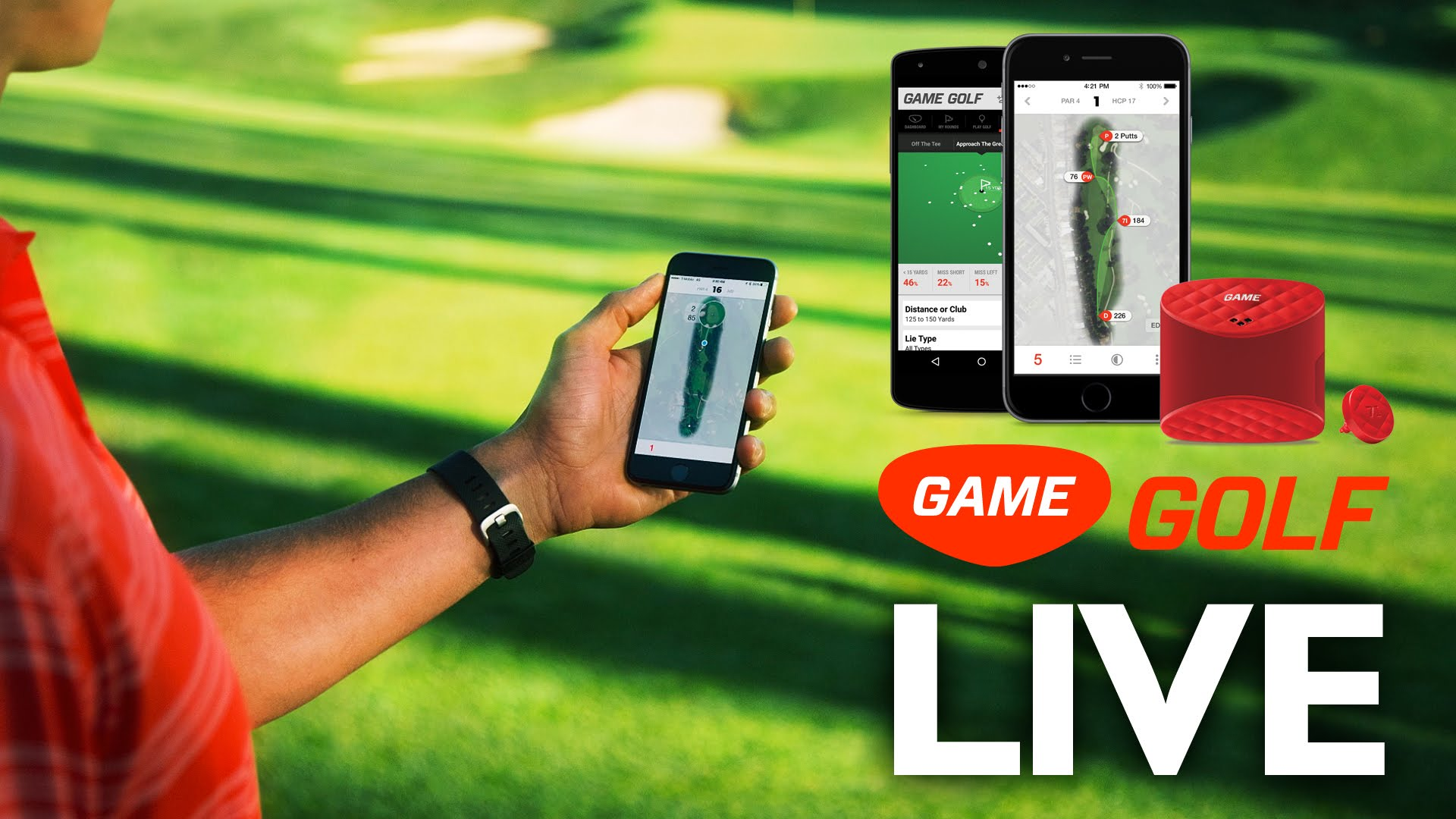 """The clue is in the title - Game Golf Live provides """"live"""" feedback"""