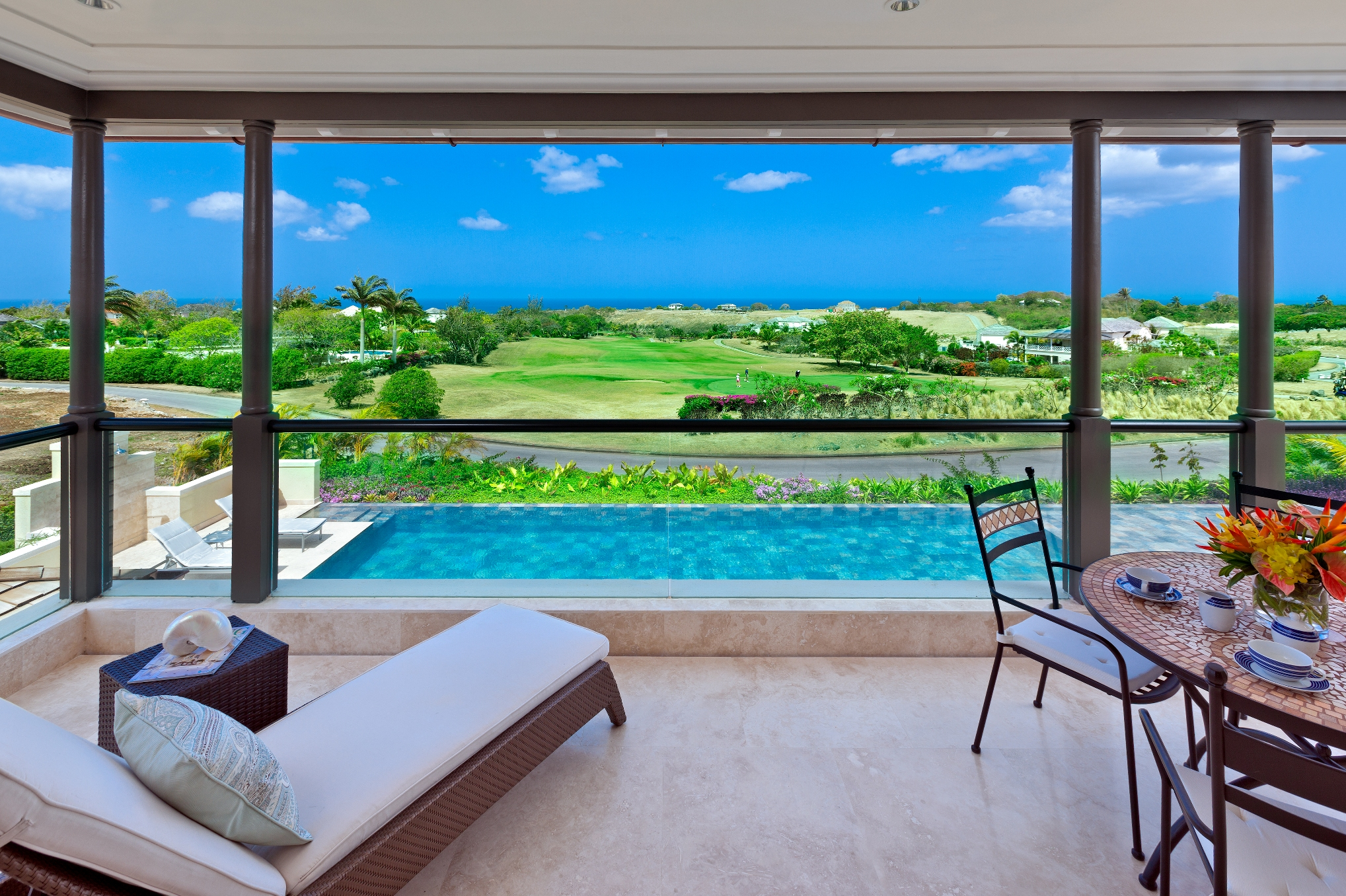 One of the five-star villas overlooking the golf course at Royal Westmoreland