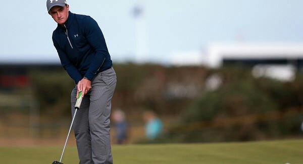 Paul Dunne using a palm-facing putting grip