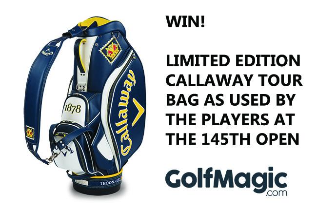 WIN! Callaway Open Championship Tour bag