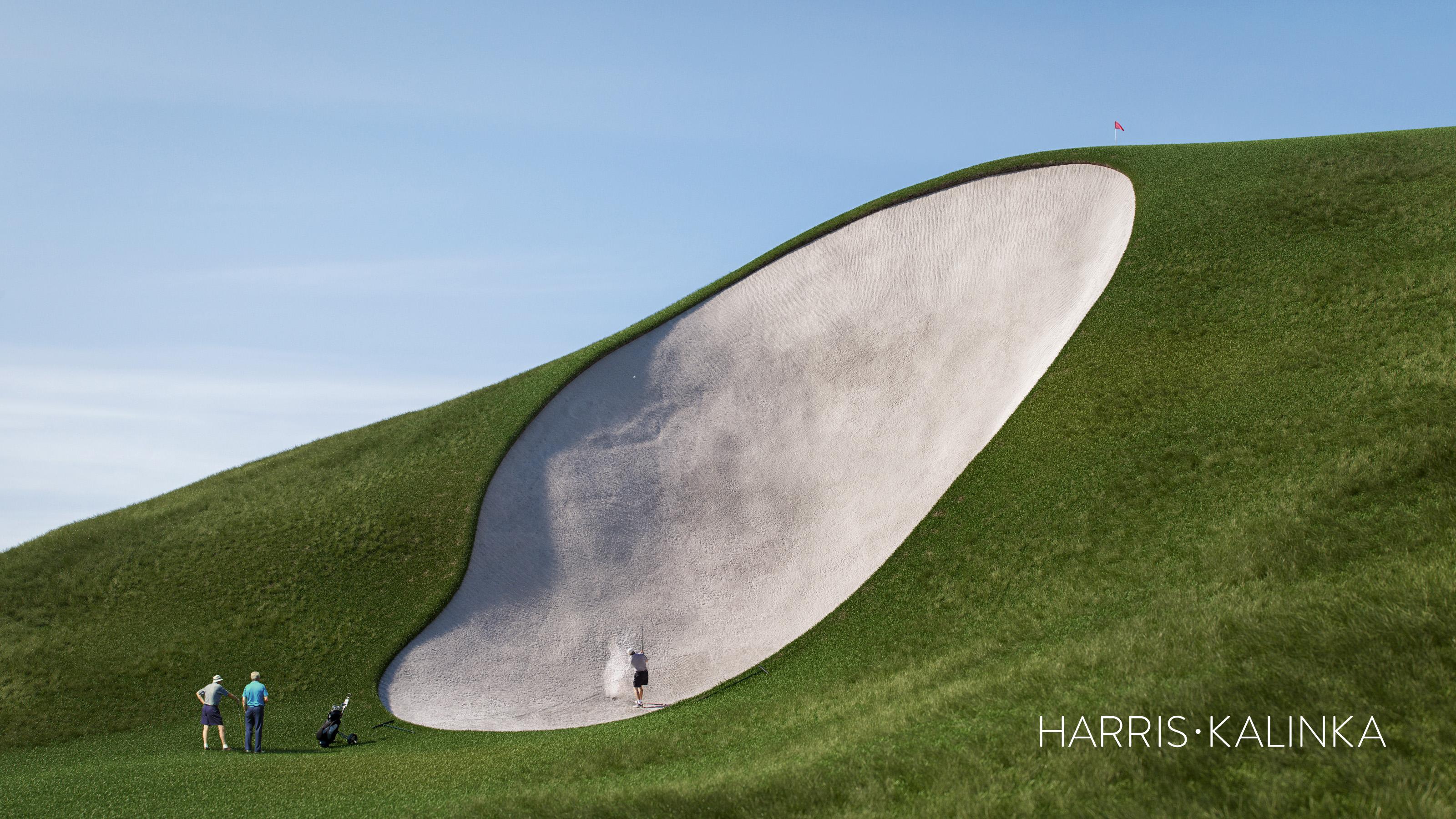 World S Deepest Golf Bunker At New Krisirk Resort Course