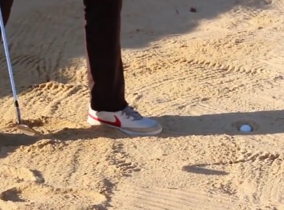 how to hit a plugged ball in the bunker