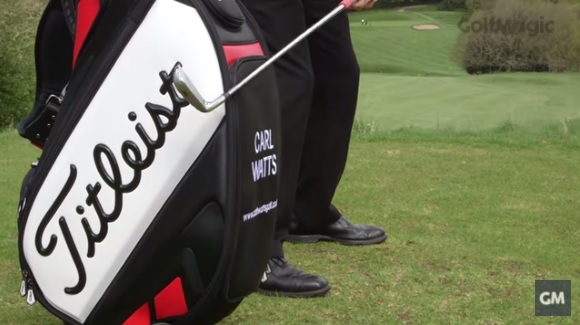 how to improve your golf swing takeaway by smacking your golf bag
