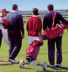 Carrying golf bags