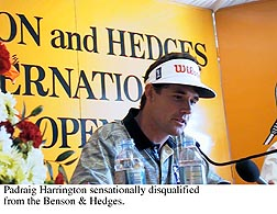 Harrington disqualified from B&H