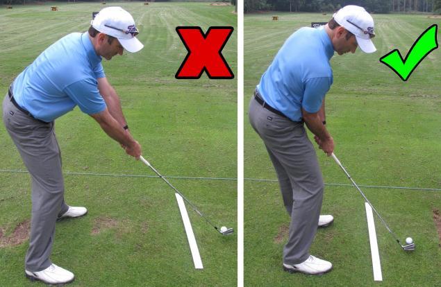 Golf Practice Drills: avoid the shank