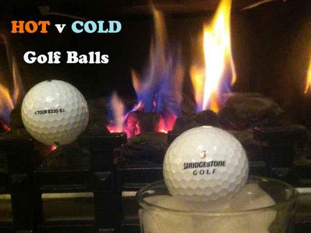 Hot v Cold golf balls: Distance test