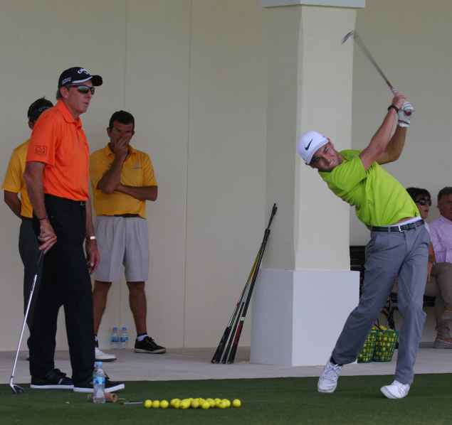 Leadbetter gives Golfmagic a lesson