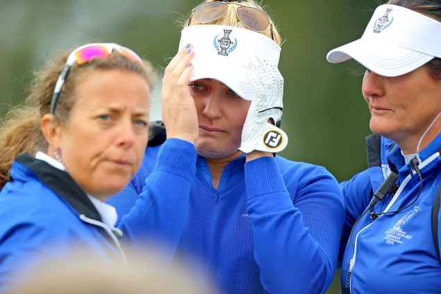 charley hull tears solheim cup