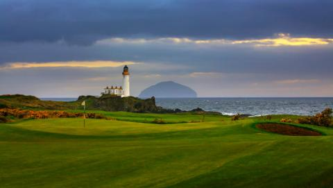 trump's son eric opens new turnberry golf course
