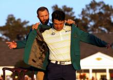 Japanese newspaper publishes 72-HOLE graphic on Hideki Matsuyama Masters win