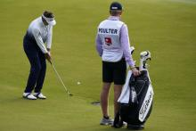 Ian Poulter misses the cut at Wells Fargo Championship with son Luke on the bag