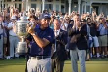 """Phil Mickelson """"SIPPING WINE HALF LIT"""" following US PGA victory"""