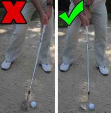 Golf Practice Drills: hinge wrists in bunker