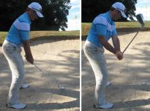Golf Practice Drills: 8-iron bunker shot