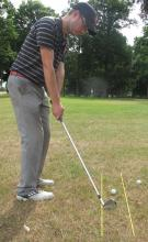 Golf Practice Drills: chipping alignment