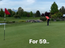 Golfer shoots 59 then jumps straight into the lake