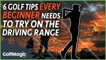 best golf tips on the driving range for the golf beginner